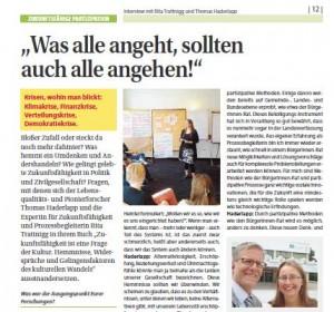 """Artikel """"Was alle angeht, sollten auch alle angehen!"""" - Magazin Landentwicklung Steiermark"""