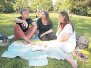 Beim entspannten SOL-Interview im Wiener Stadtpark mit Obfrau Vera Besse