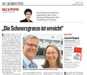Artikel von Antonia Gössinger über den politischen Kulturwandel in Kärnten