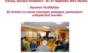 Dynamic Facilitation Methodentraining zur Moderation von Zukunftsgestaltungsprozessen in Unternehmen, Institutionen, Regionen und Gemeinden erstmals in Kärnten