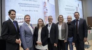 Bürgerbeteiligung diskutierten an der FH-Kärnten Cik, Albel, Trattnigg, Hellriegl, Stainer-Hämmerle, Godescha, Brodel