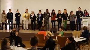 Staatssekretärin Rita Schwarzelühr-Sutter  bei der Präsentation der Ergebnisse des BürgerInnen-Rates in München